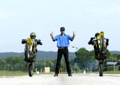 Motocross on rear wheels