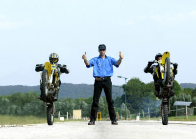 Cyril Anthony motorbike wheeling rear wheel