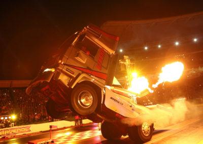 Hockenheim camion wheeling bourny