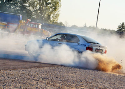 BMW car drift