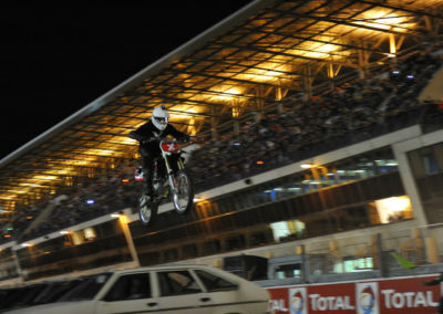 Motocross jump over cars lined up