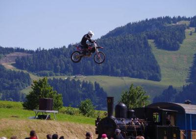 motorcycle jump train
