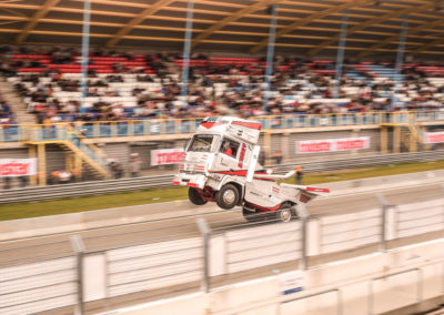 Wheeling truck on Assen Circuit